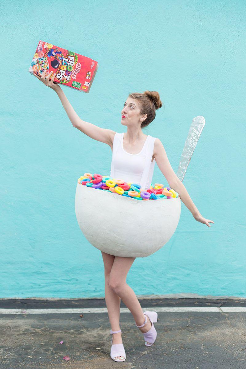 diy cereal bowl costume kost me fasching halloween kost m und halloween kost m. Black Bedroom Furniture Sets. Home Design Ideas