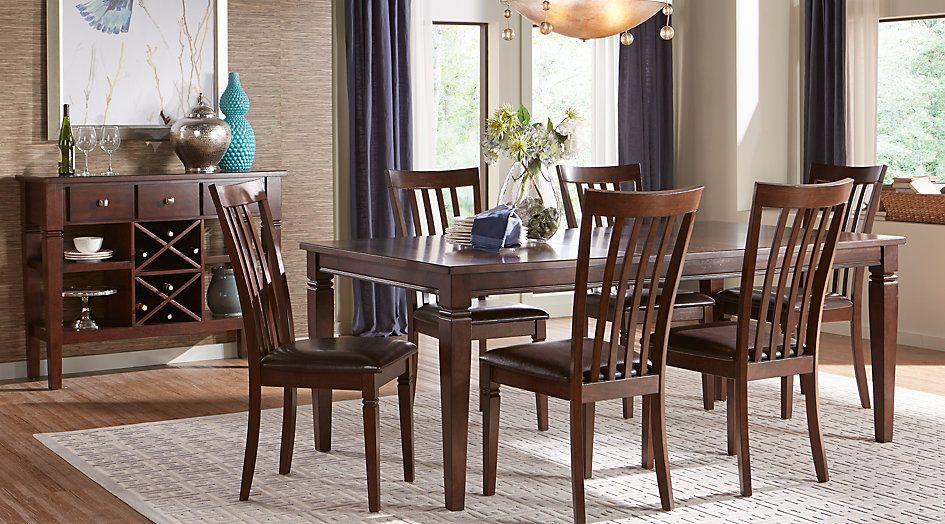 Riverdale Cherry 5 Pc Rectangle Dining Room From Furniture Prepossessing Cherry Wood Dining Room Set Design Ideas