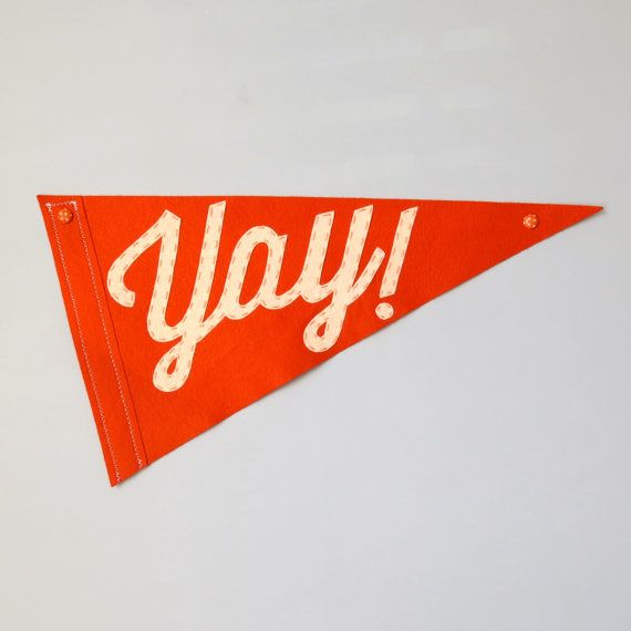 Yay Wedding Pennant Flags  Single Flag for Ringer by betawife, $50.00