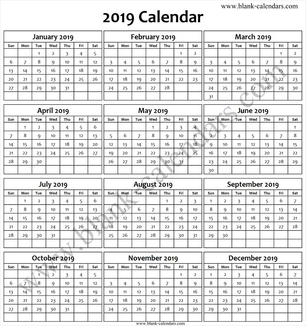 yearly calendar by month