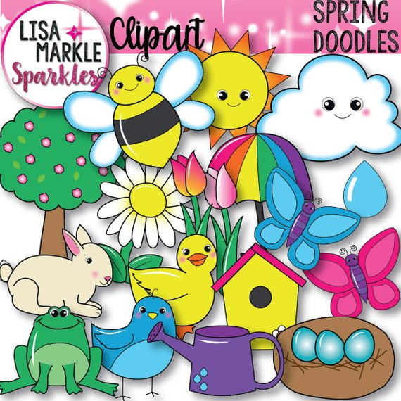 Spring Clipart Spring Animals Clipart Etsy Spring Animals Baby Clip Art Clip Art