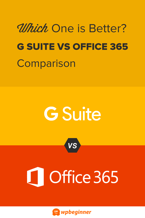 G Suite vs Office 365 Comparison - Which One is Better