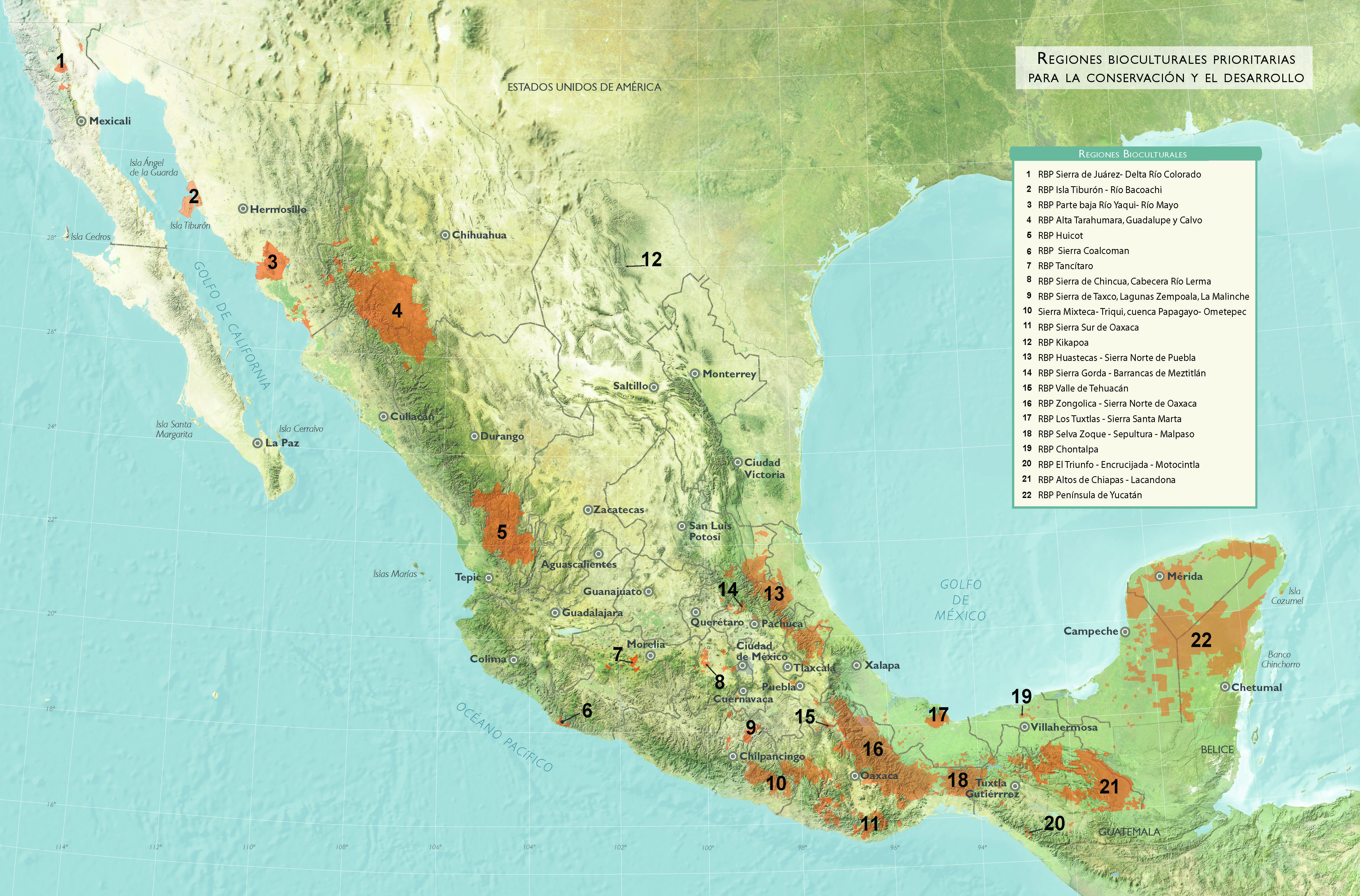 Mexico Coffee Growing Regions Pinterest Coffee - Mexico regions map