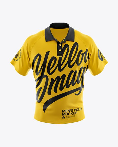 Download Men S Polo Hq Mockup Front View In Apparel Mockups On Yellow Images Object Mockups Design Mockup Free Shirt Mockup Clothing Mockup