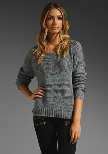 360 Sweater Jaylyn Raglan in Grey Knit outfit, Fashion