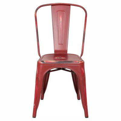 Aeon Furniture Garvin AE3535 Stackable Dining Chair - Set of 2 - AE3535-ANTRED
