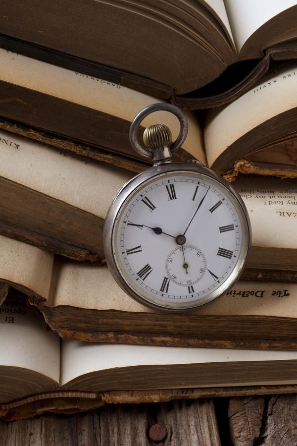books and a clock