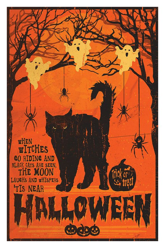 Tis Near Halloween Poster 12 by 18 Inch Print by MattPepplerArt - halloween poster ideas