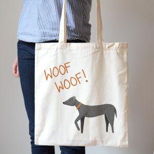 Woof Woof Dog Canvas Bag, 8 GBP