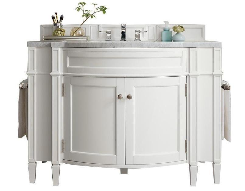 46 Brittany Cottage White Single Bathroom Vanity Single
