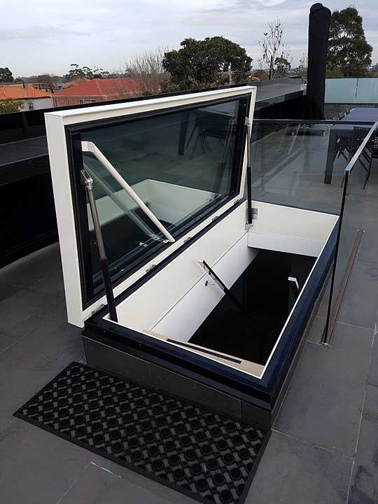 Gallery Of Roof Hatch Glazed Rhtg 8 In 2020 Roof Hatch Roof Access Hatch Roof