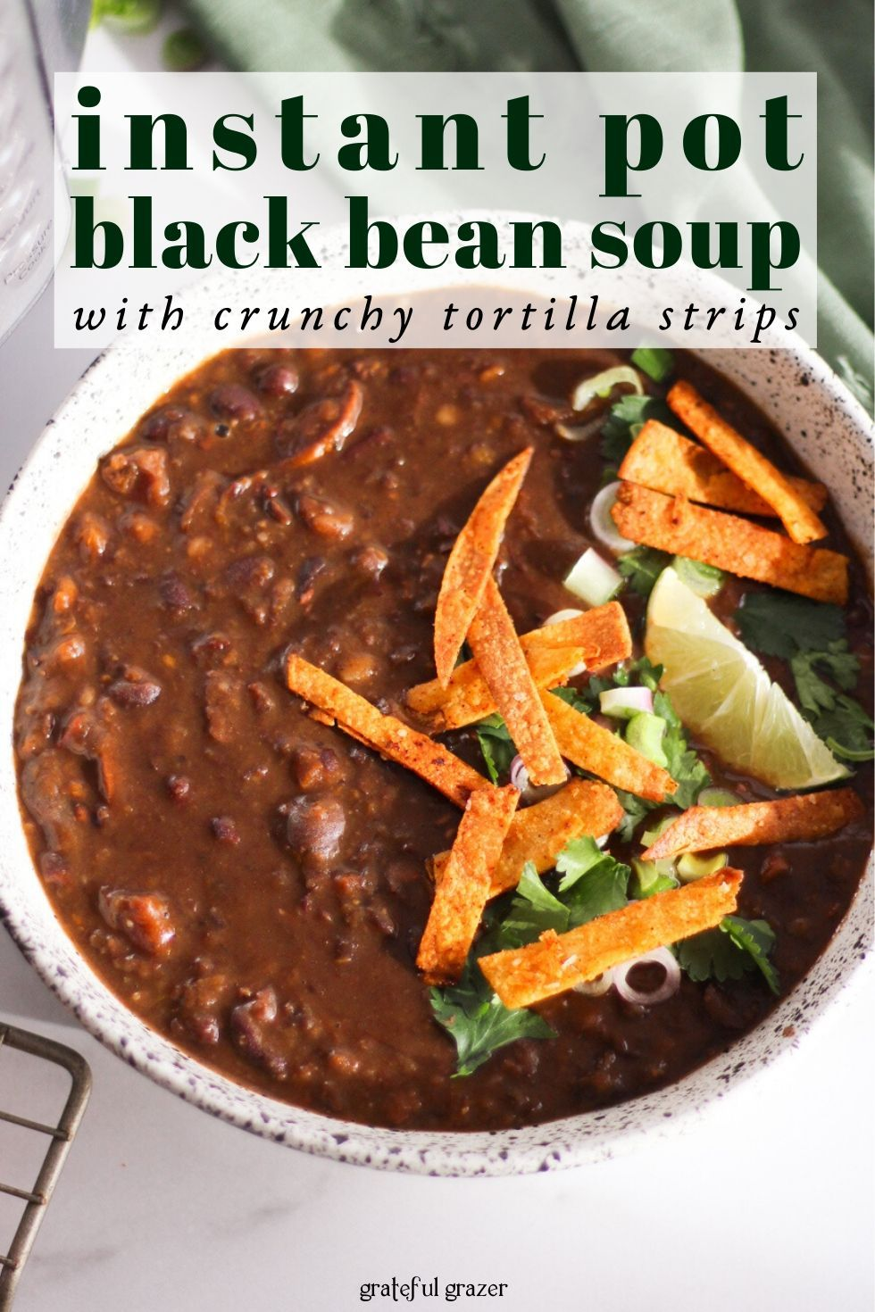 Best Black Bean Soup Recipe For The Instant Pot Vegan Recipe Black Bean Soup Bean Soup Recipes Vegan Soup Recipes