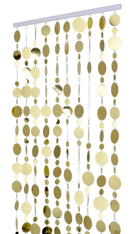 8 Foot Long Gold Pvc Circles Curtain Gold Circle Beaded Curtains