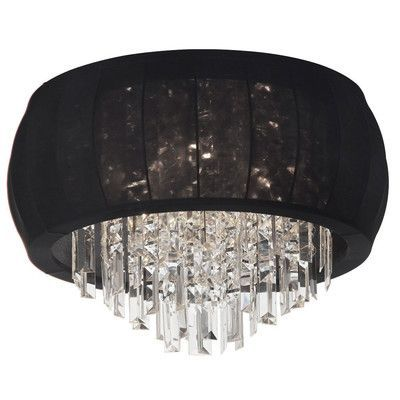 Radionic Hi Tech Maya 8 Light Crystal Flush Mount & Reviews | Wayfair