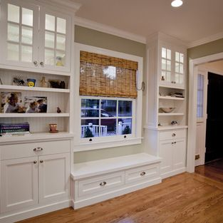 Built In Cabinets Around A Window Kitchen Built Ins Dining Furniture Makeover Built In Cabinets