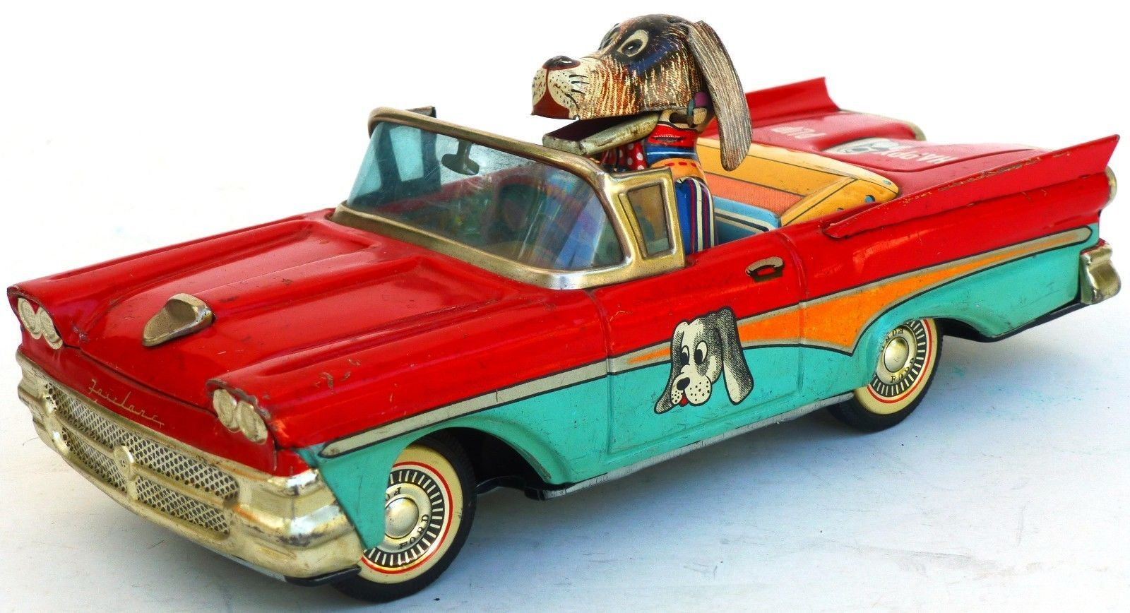 Alps Happy Pup Friction Car Tin Toy from 50s ebay | Vintage Toys ...