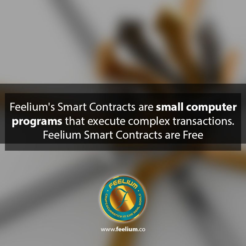 The Feelium Website Offers Free Smart Contract Templates And An Optional Escrow Services For Trust Less Contractual Contract Template Small Computer Blockchain