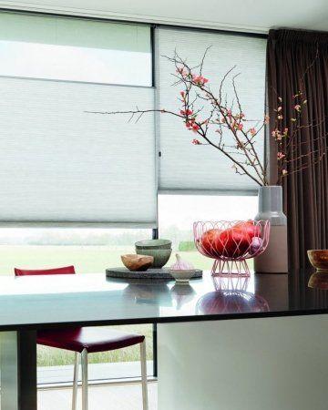 Inspiratie raamdecoratie Duette gordijn in combinatie met gordijn ...