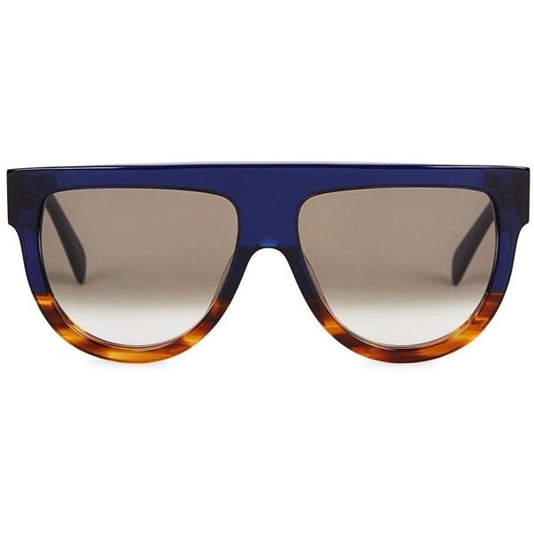 22c2221d3d17 Céline Shadow navy D-frame sunglasses ( 300) ❤ liked on Polyvore featuring  accessories