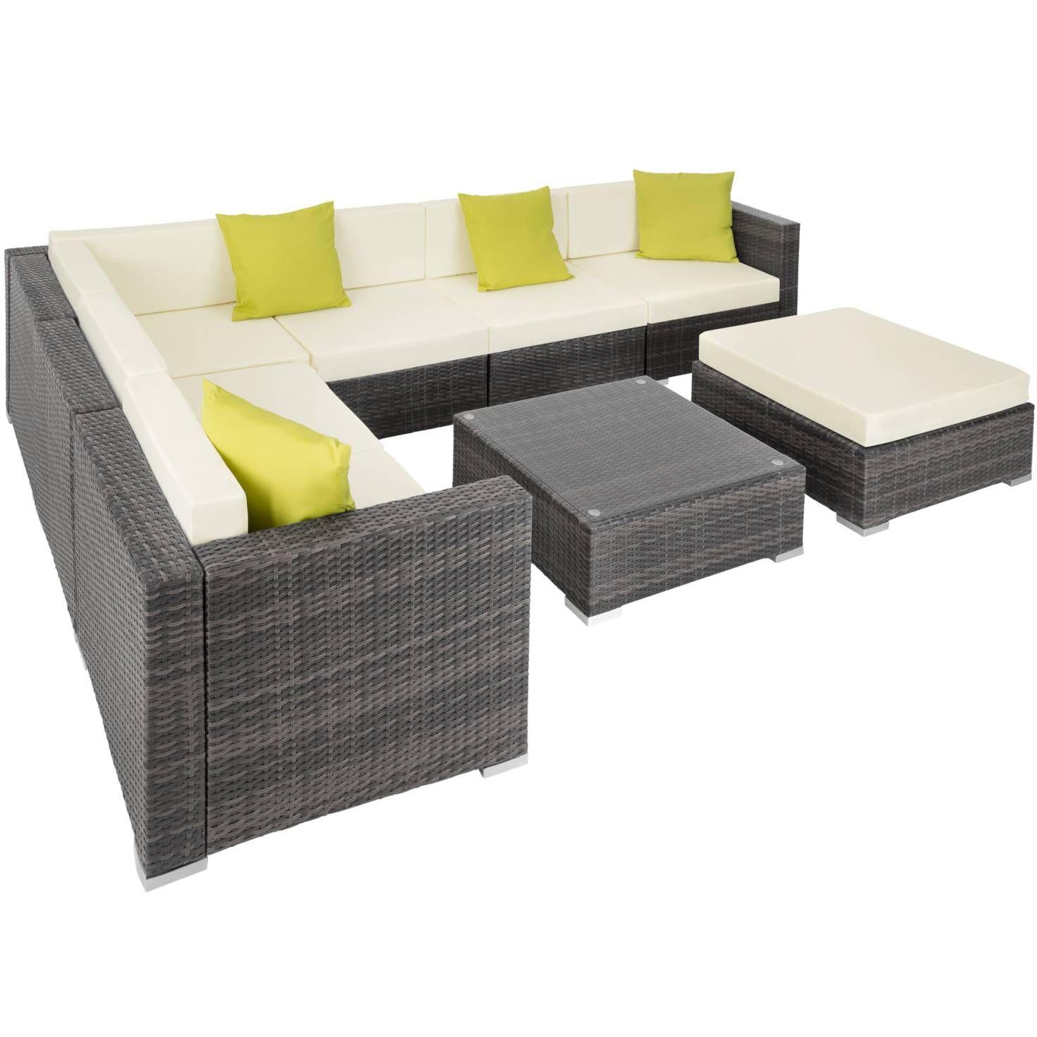 Rattan Lounge Mit Aluminiumgestell Marbella Gunstig Online Kaufen Tectake Rattan Gartenmobel Lounge Mobel Mobel Sofa