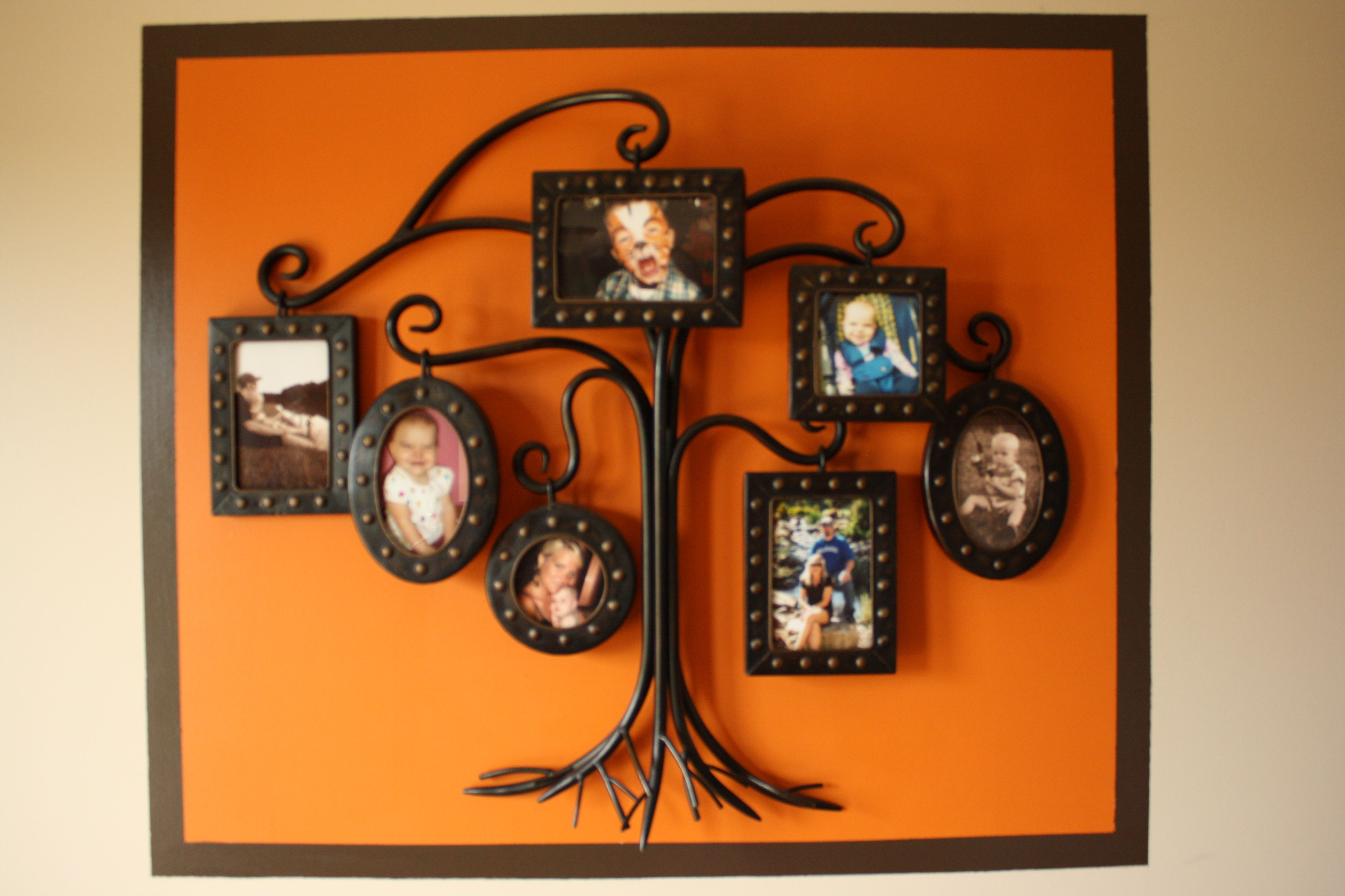 painted frame with border around wall decor Painting