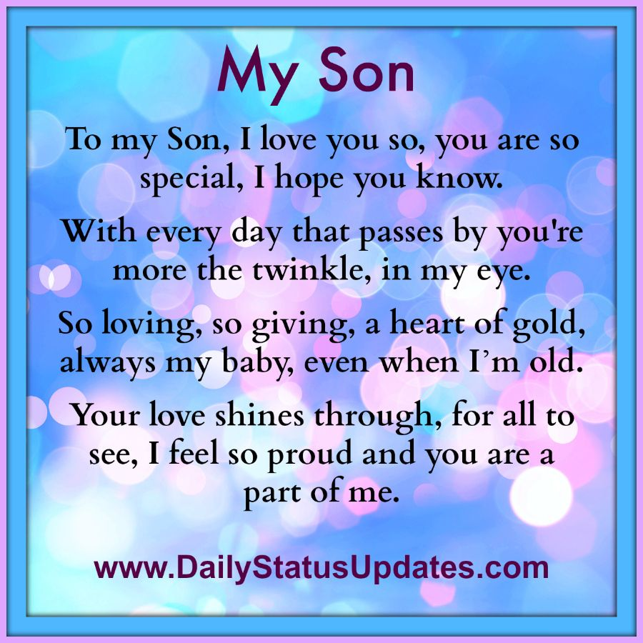I Love You My Son Quotes Archidev