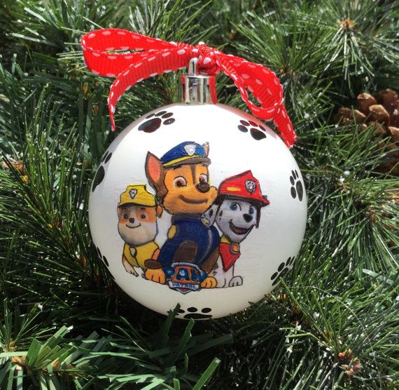 Paw Patrol Christmas Ornaments Personalized.Personalized Paw Patrol Shatterproof By Gingerspicestudio On
