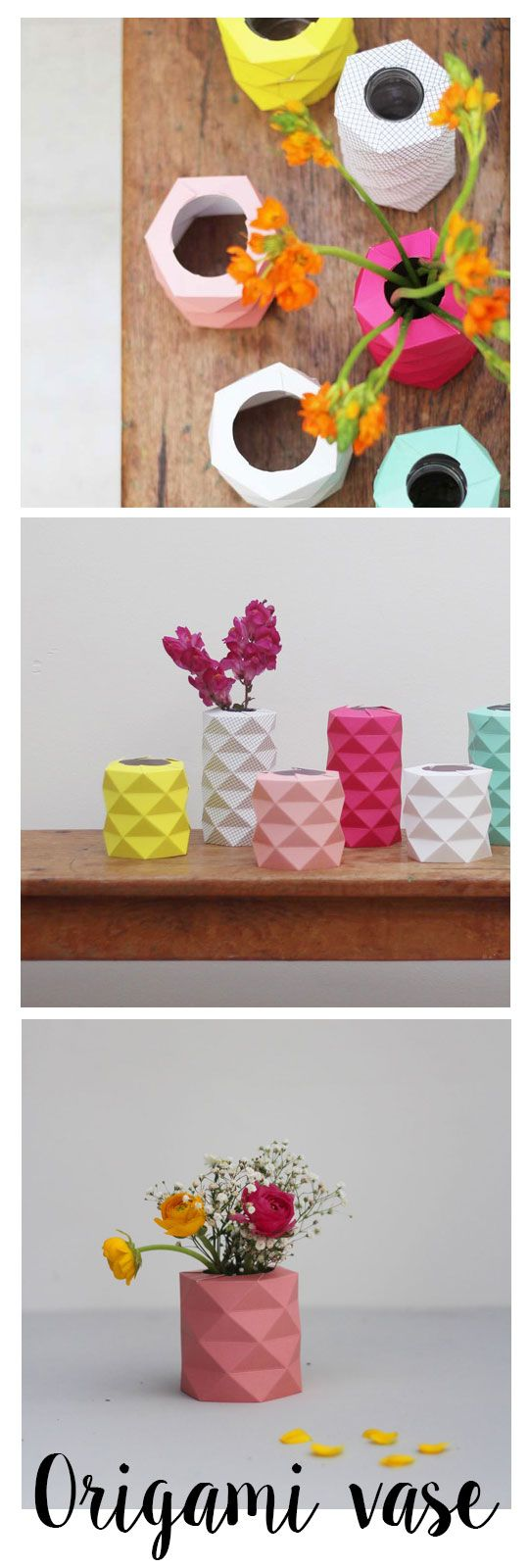 Ink origami vase this beautiful pink origami vase is made of high ink origami vase this beautiful pink origami vase is made of high quality laminated paper grams it can cover any simple bottle or a jar in the right size floridaeventfo Images
