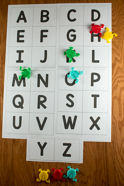 Jumping Frog Alphabet Game Alphabet games for