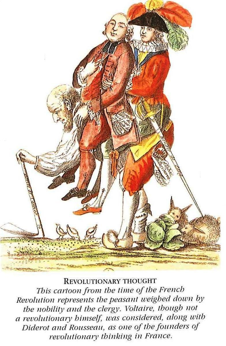 influences photo 3 french revolution n d web political cartoon expressing the views of the french peasantry revolution