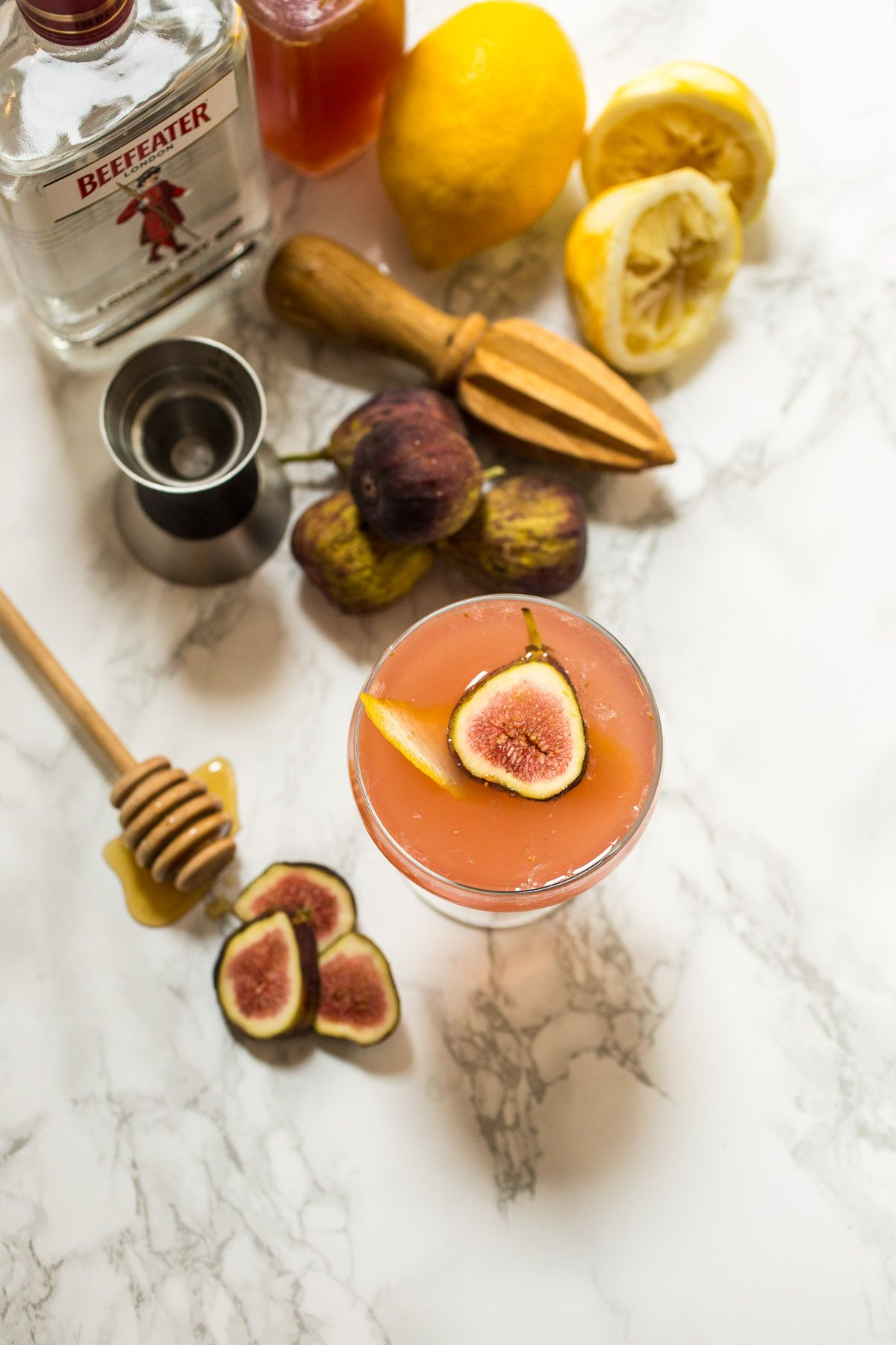 Fig Bees Knees Cocktail