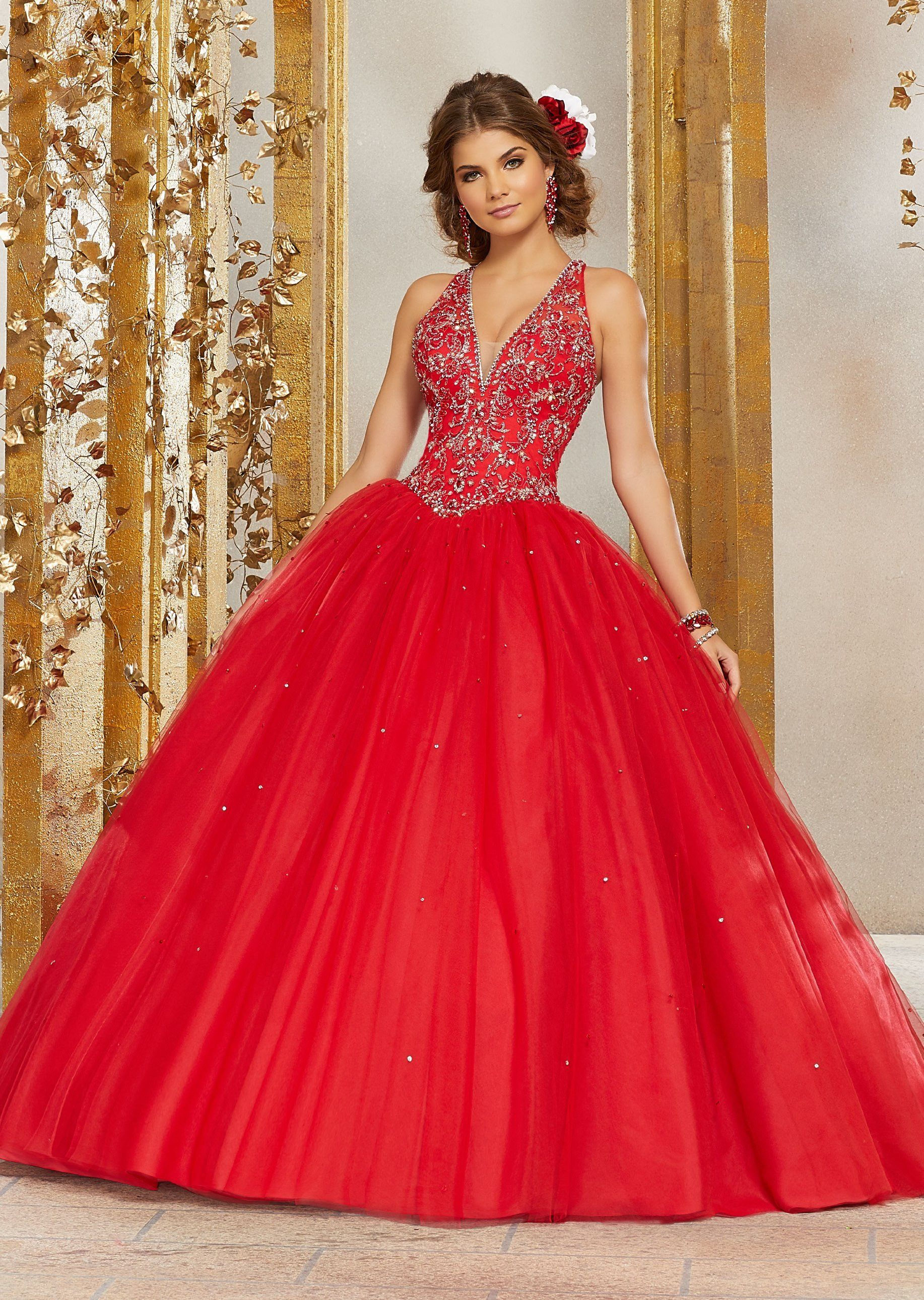 17fd57d4617 Bead Embroidered Quinceanera Dress by Mori Lee Valencia 60076 in ...