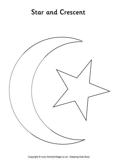 99 Creative Moon Projects Resource Star Coloring Pages Eid