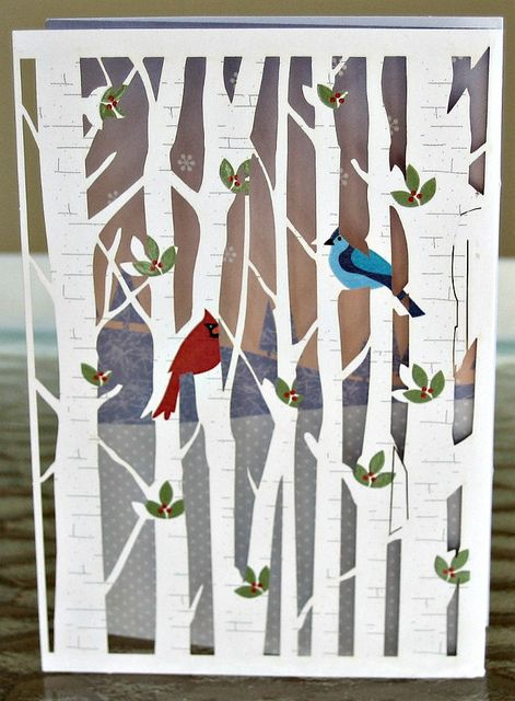 Laser Cut Holiday Card by all things paper, via Flickr