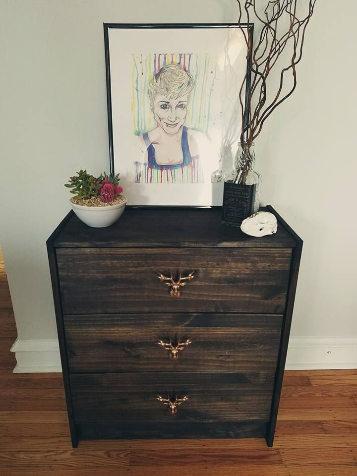 Created These Beautiful Side Tables Using The IKEA Rast Dresser Minwax Jacobean Stain Wood