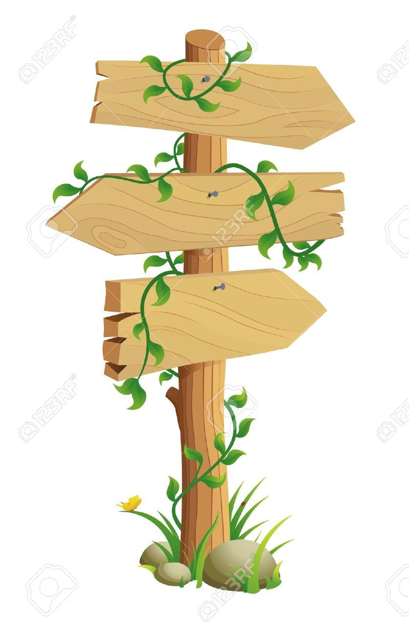 Wooden Direction Sign Directional Signs Clip Art Clip Art Borders