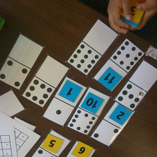 Domino One To One Correspondence Kinder Kindergarten