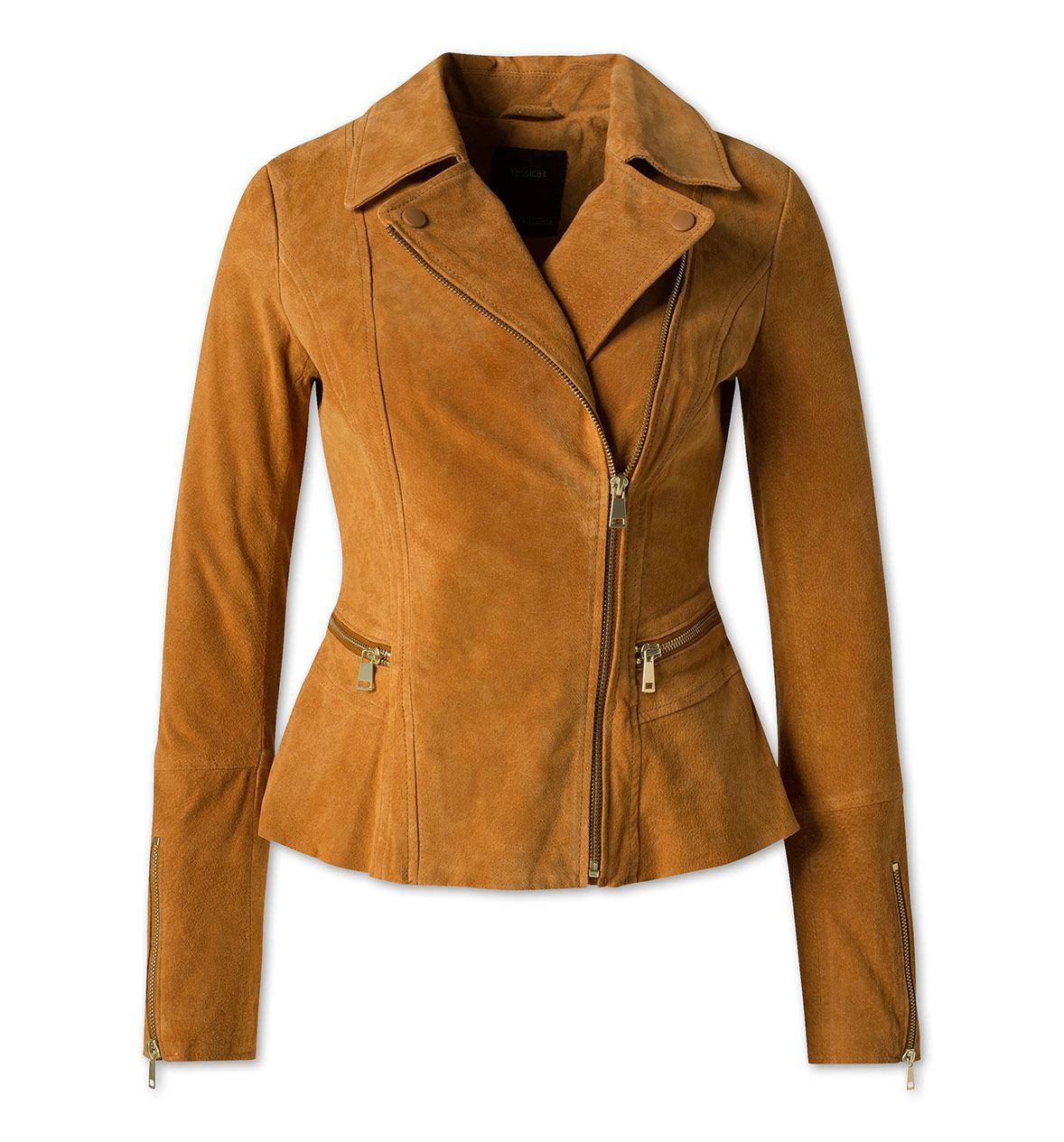 lederjacke in havanna | athletic jacket, leather jacket, red