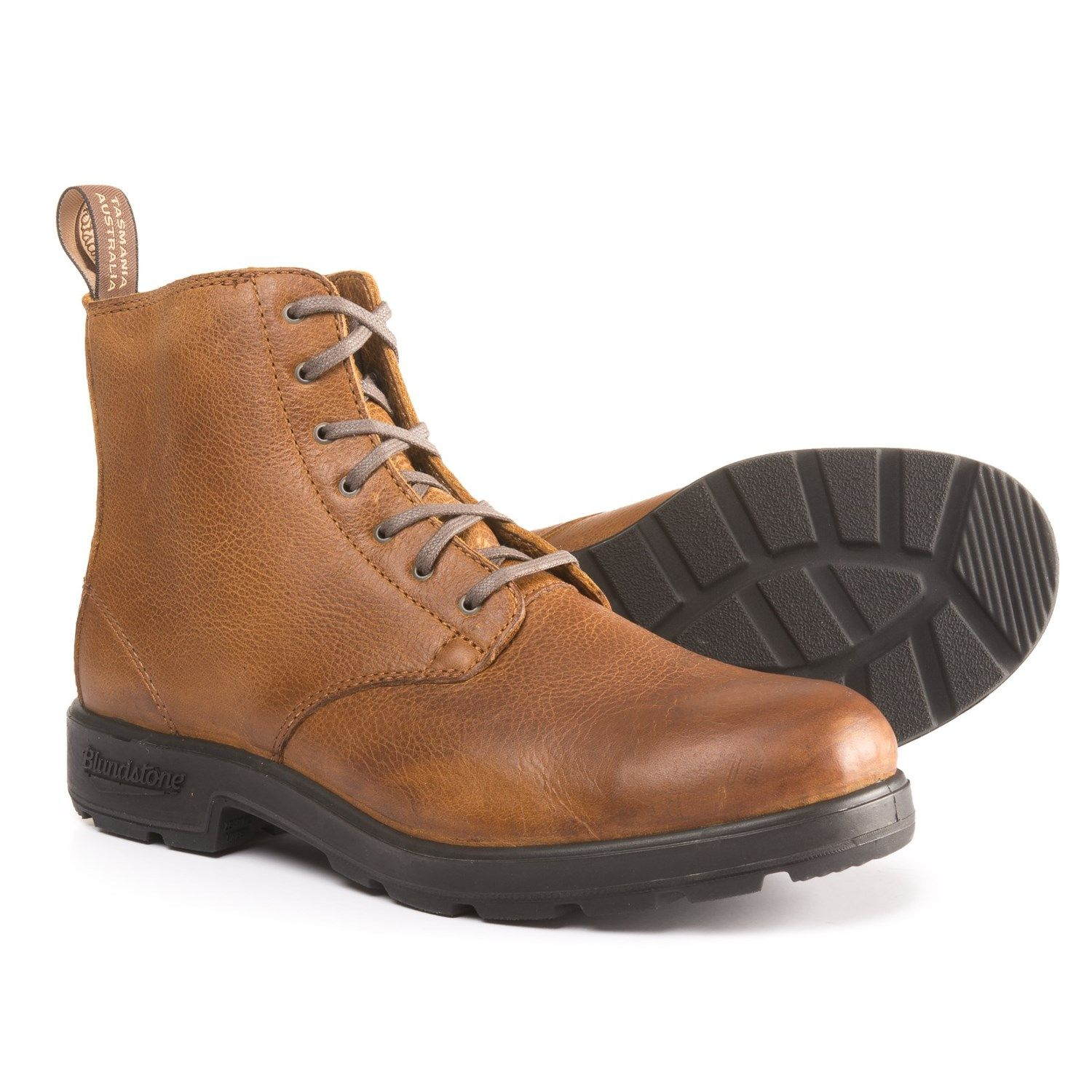 9748670f78629 Blundstone Lace-Up Boots (For Men) in Tan Tumbled, Brown Tumbled at Sierra  Trading Post. Celebrating 30 Years Of Exploring.