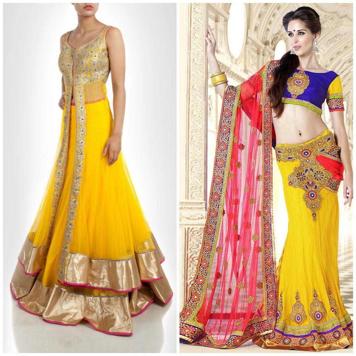 elegant embroidery silk lehenga designs for brides | hairstyle