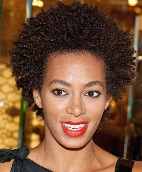 Short Natural African American Hairstyles Natural Hairstyles For Black Women Over 50  Solange Knowles