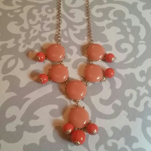 Orange bubble necklace One of my favorites, perfect to dress up a spring outfit Jewelry Necklaces