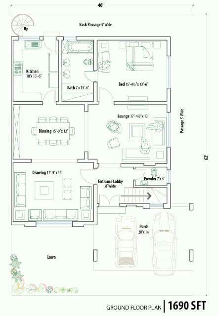 Pin By Muntari Darma On Pakistan House Plans House Map House Plans For Sale Home Map Design