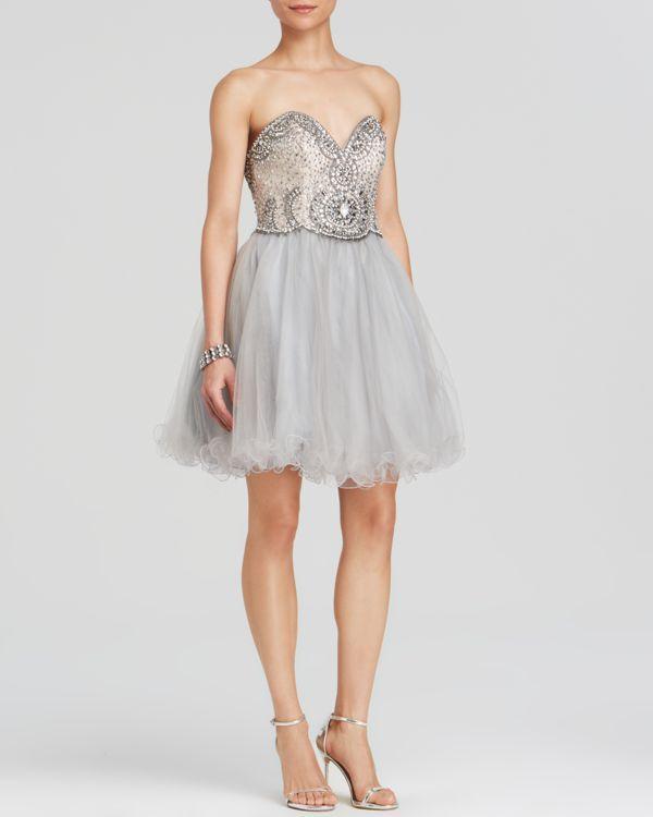Terani P3159 - Hot Pink Beaded One Shoulder Prom Dresses