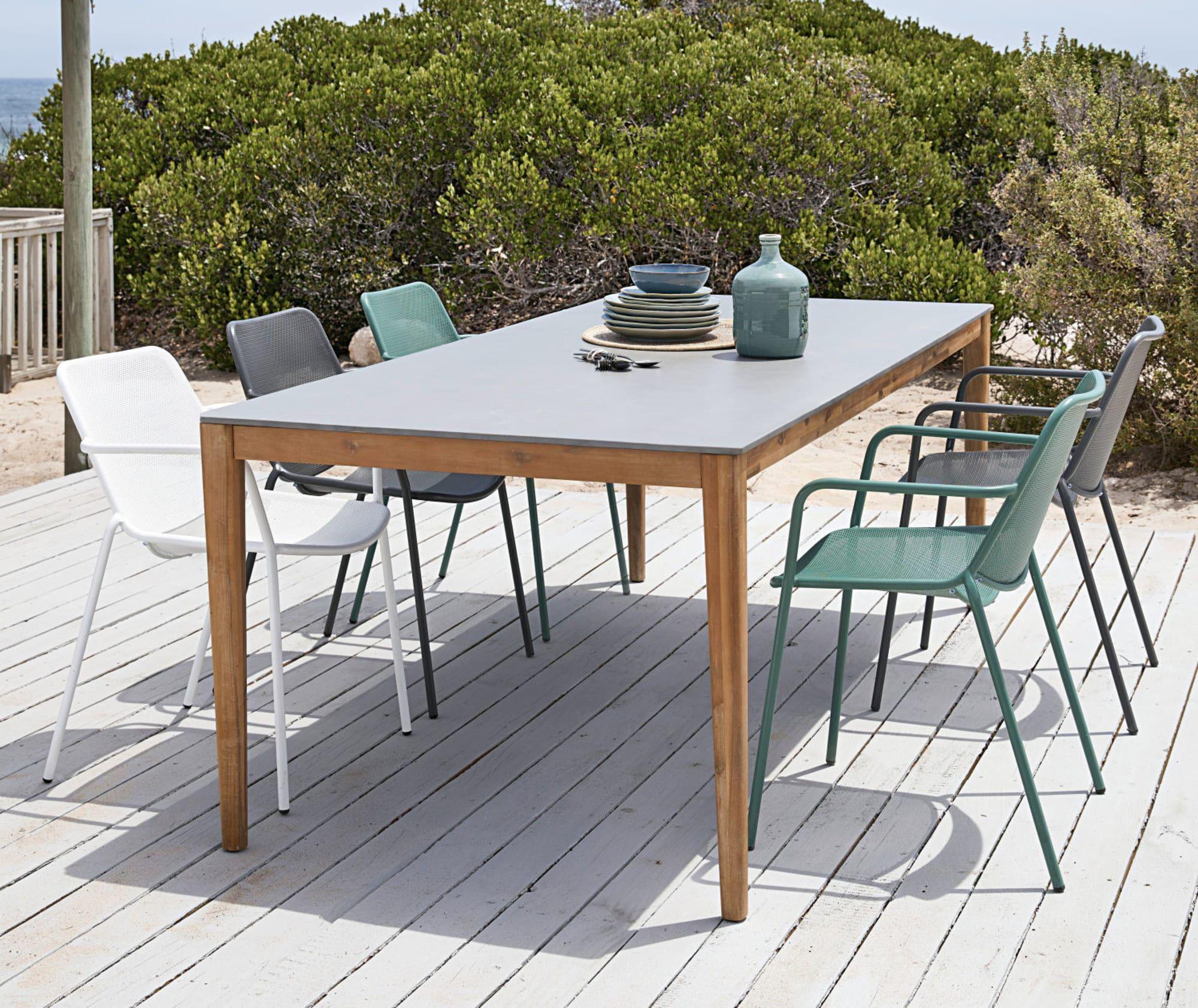 Gartentisch Aus Zement Fur 8 10 Personen L220 Garden Table