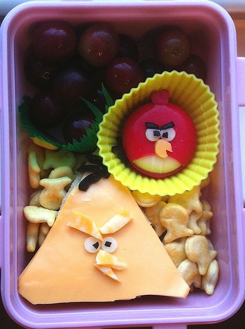 Angry bird babybel and sandwich!