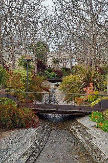 Getty Center Stream Landscape Architecture Urban Landscape Design Landscape Design