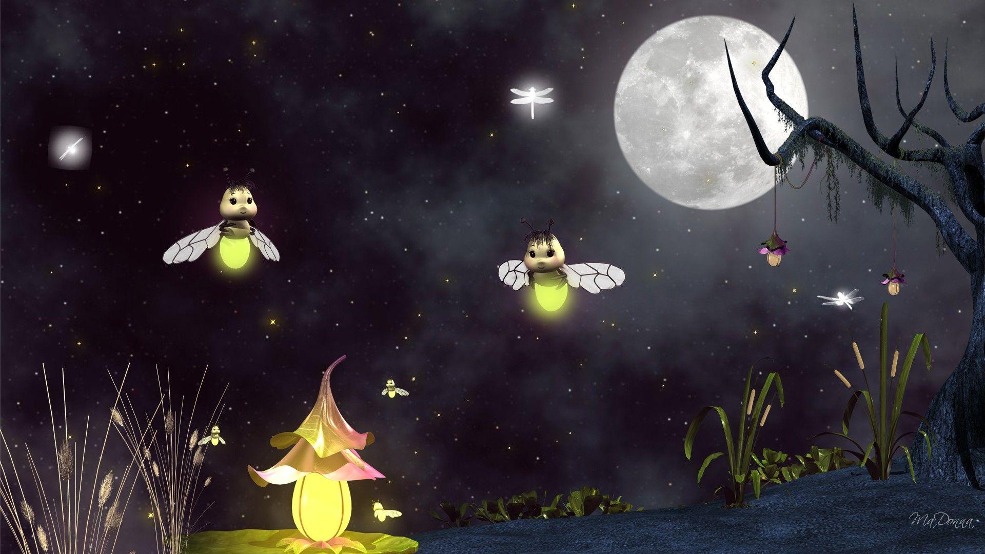 Summer Fireflies wallpapers HD free 46952 Firefly