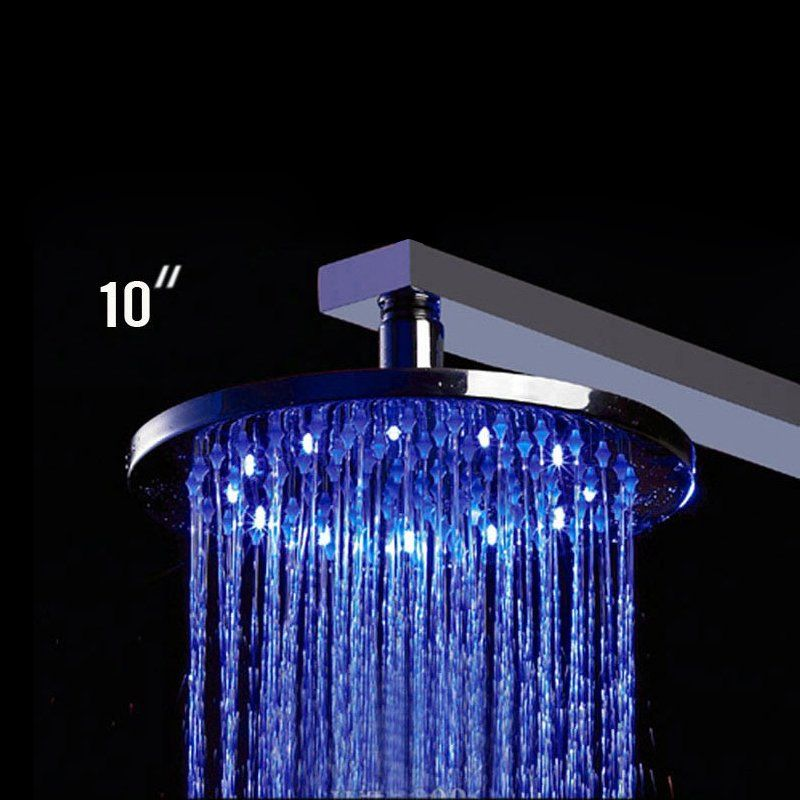 Shop Alfi Brand Led500 Round Multi Color Led Rain Shower Head At Atg Stores Browse Our Shower Heads All With Free S Shower Heads Rain Shower Led Shower Head