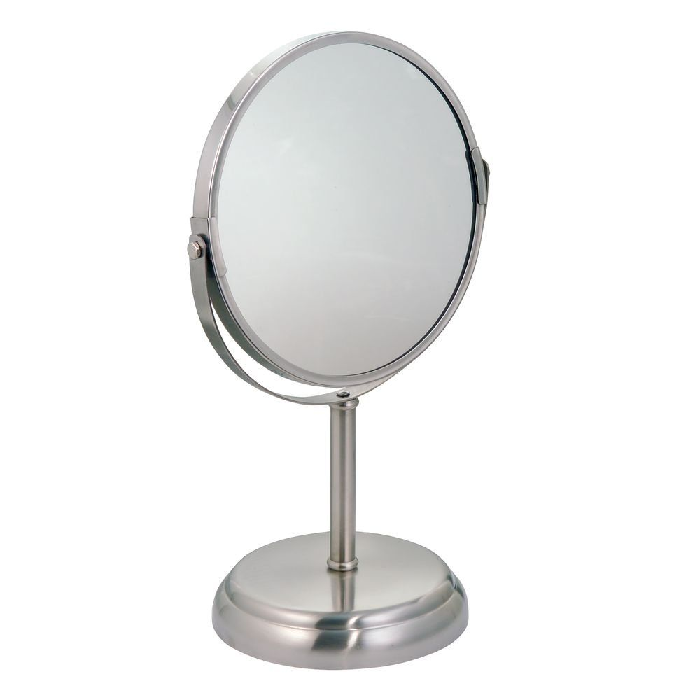 Interdesign York Metal Free Standing Vanity Makeup Mirror For Bathroom Countertops Split Finish Check Out The Image By Visi Metal Mirror Mirror Interdesign